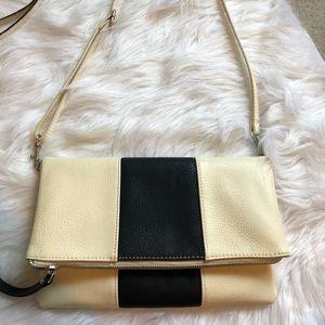 Linea pelle black and white shoulder bag
